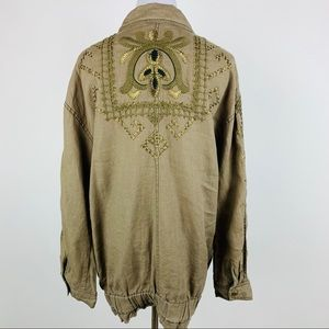 FREE PEOPLE Rugged Embroidered Jacket sz XSmall